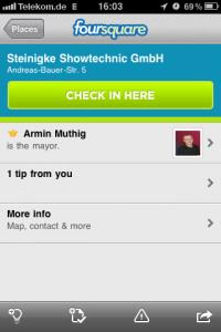 Foursquare auf iPhone