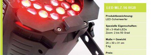 Eurolite LED MLZ-56 RGB Test Banner