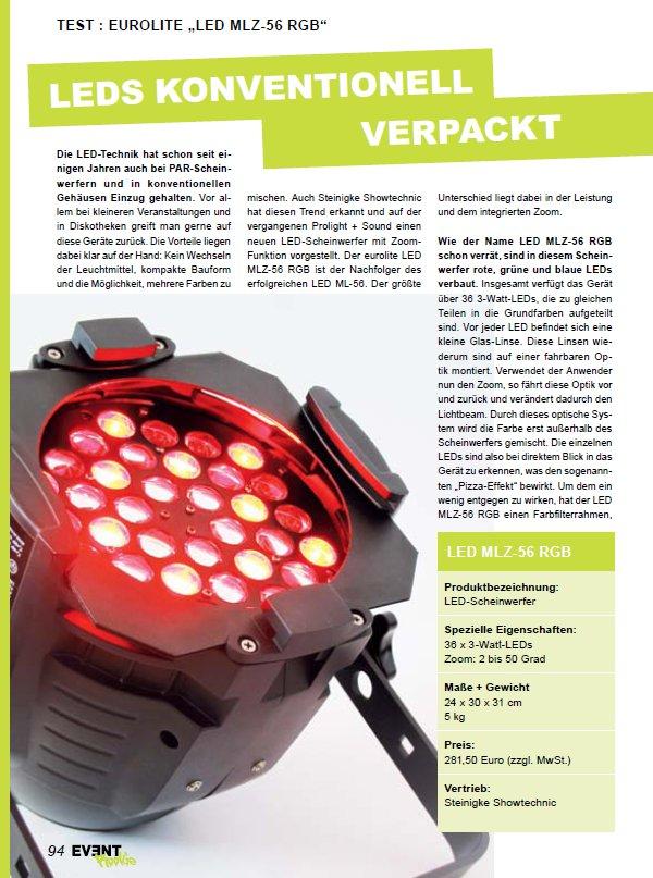 Eurolite LED MLZ-56 RGB Test Seite 1