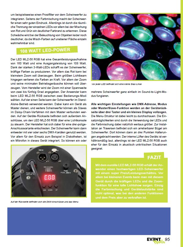 Eurolite LED MLZ-56 RGB Test Seite 2